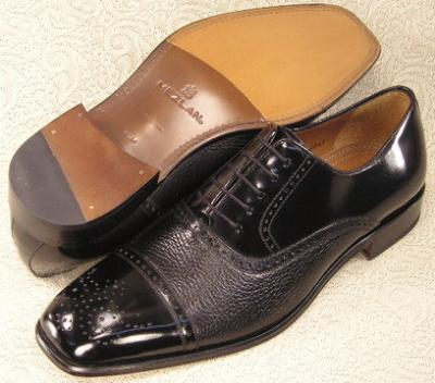 Picture of Mezlan Andrew Cap Toe Oxford (Black)