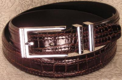 Picture of Stacy Adams Belt Croco 6 113 (Brown)