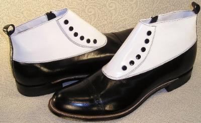 Picture of Stacy Adams Madison Spats Boot (Black/White)