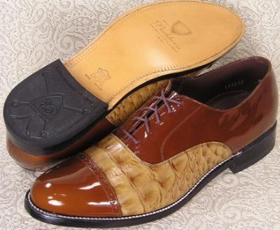 Picture of Stacy Baldwin Hornback Cap Toe Oxford (Brown/Tan)