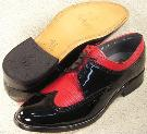 Picture of Stacy Baldwin Lizard Wingtip (Black/Red)