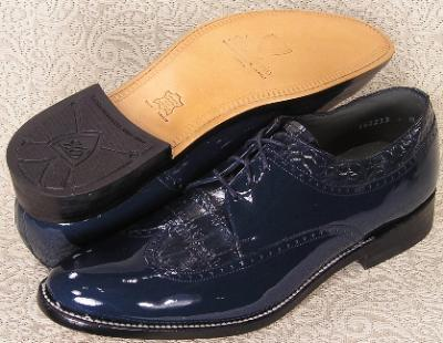 Picture of Stacy Baldwin Wingtip Blucher Oxford (Navy)