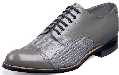 Picture of Stacy Adams Madison Croco Blucher (Grey) 00034