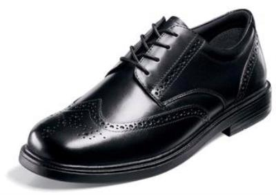 Picture of Nunn Bush Eagan Wingtip Oxford (Black)