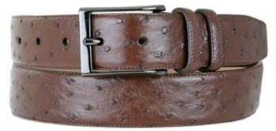 Picture of Mezlan 8146 Belt Ostrich Twill (Tabac)