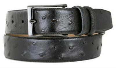 Picture of Mezlan 8146 Belt Ostrich Twill (Black)