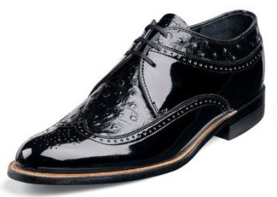 Picture of Stacy Adams Dayton Wingtip Ostrich (Black)