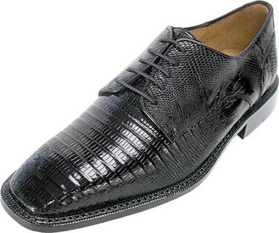 Picture of Belvedere Olivo Lizard Oxford (Black)