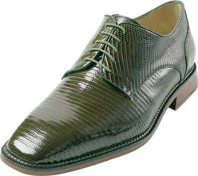 Picture of Belvedere Olivo Lizard Oxford (Olive)