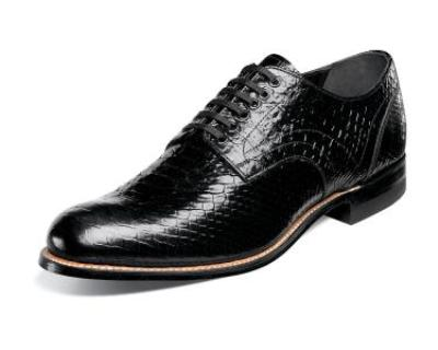Picture of Stacy Adams Madison Anaconda Oxford (Black)