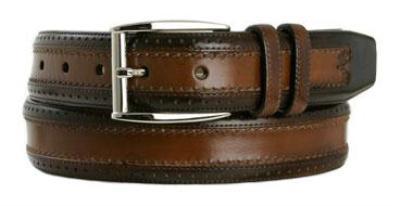 Picture of Mezlan 8859 Belt (Tan/Brown)