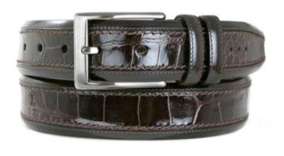 Picture of Mezlan 8597 Belt Crocodile (Brown)