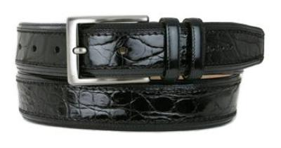 Picture of Mezlan 8597 Belt Crocodile (Black)