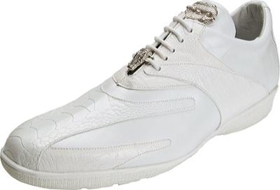 Picture of Belvedere Bene Ostrich Oxford (White)