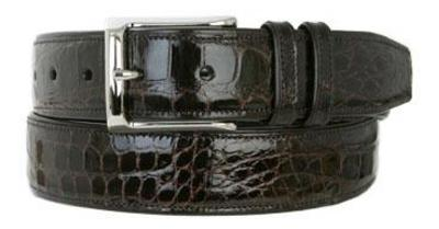 Picture of Mezlan 7907 Belt Alligator (Dark/Brown)