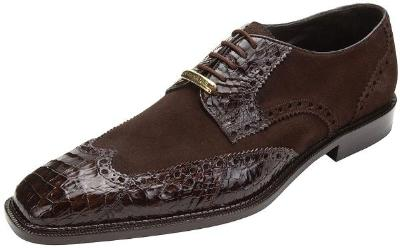 Picture of Belvedere Pergola Crocodile Suede Wingtip