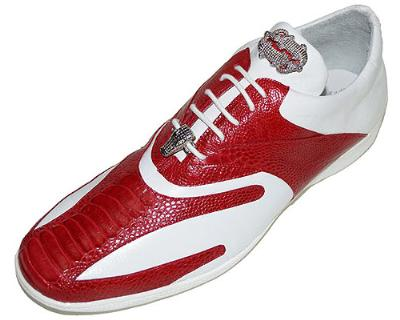 Picture of Belvedere Bene Ostrich Oxford (Red/White)