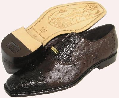 Picture of Belvedere Onesto Crocodile Ostrich Oxford (Brown)