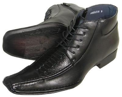 Picture of Alberto Fellini Side Zip Demi Boot 01 (Black)