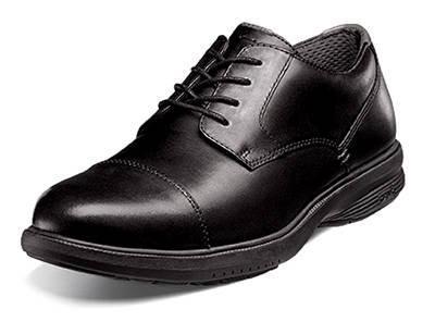 Picture of Nunn Bush Melvin St Cap Toe Walking Shoe (Black)